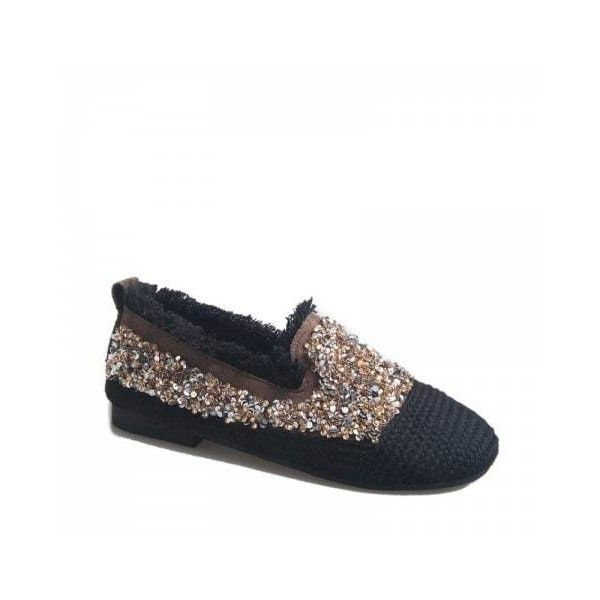 c12f99bb7f4 Khaki 36 Women s Knitting Sequins Decorative Flat Bottom Casual Shoes (680  UYU) ❤ liked