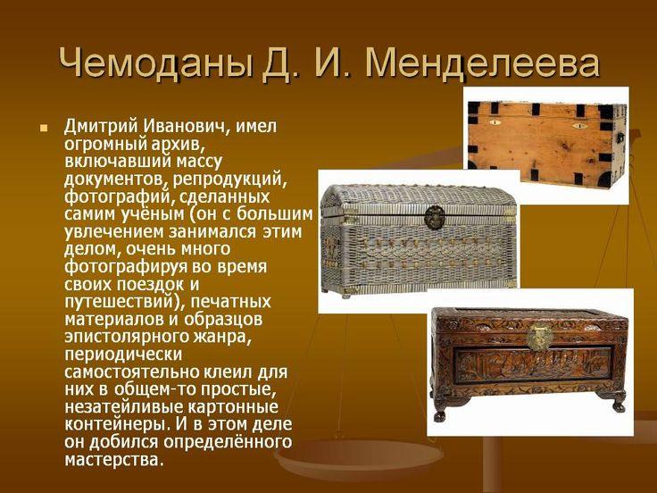 Чемоданы Д. И. Менделеева