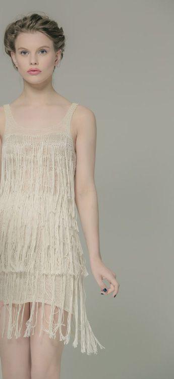 The Great Gatsby Cashmere Silk Pearl Dress. Luxury Limited Edition Knitwear. www.elkaknitwear.co.nz