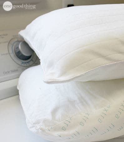 Get rid of sweat stains on your pillows in a heartbeat to make them look brand new again!