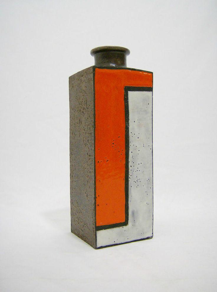 Raymor vase italian bitossi aldo londi orange art pottery for Bitossi shop on line