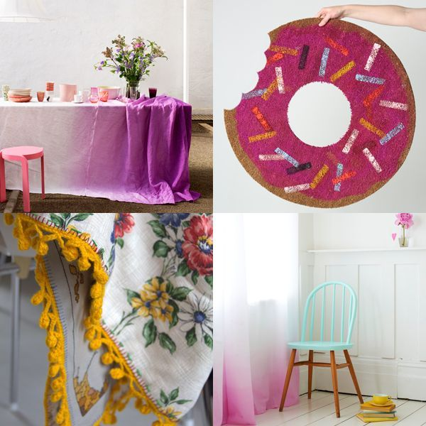 I love these ideas – the doughnut rug is awesome! Decorating ideas for rented home