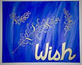 """Make a Wish, 16""""x20"""" hand-painted canvas Handmade by StreetHart Studios"""