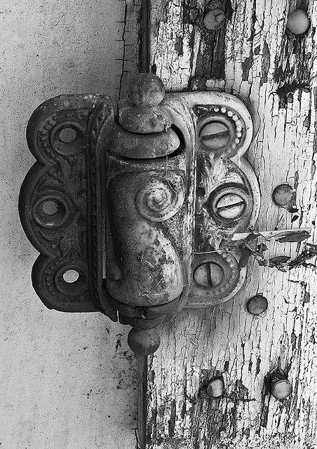Fabulous hardware for door. - White, Antique grey.