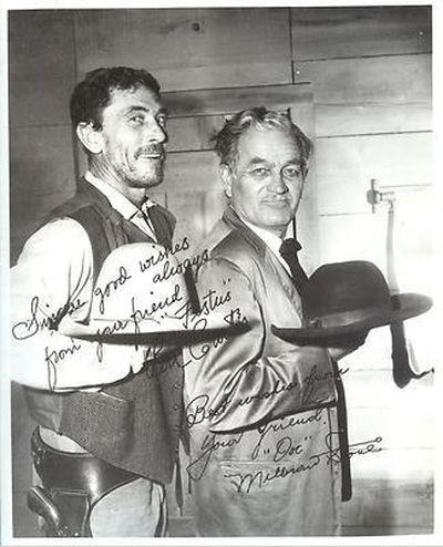 """Ken Curtis and Milburn Stone - """"Gunsmoke"""""""