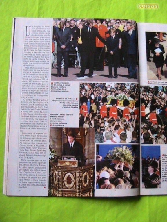 Funeral da Princesa Diana na TV Guia,