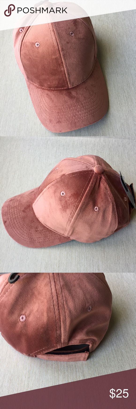 D&Y pink velvet baseball hat cap David and young pink velvet baseball hat cap. Brand new. Very cute with quality construction. Not Nasty Gal, but posted as such for exposure. Price is firm. Please feel free to ask questions. Thank you. Nasty Gal Accessories Hats