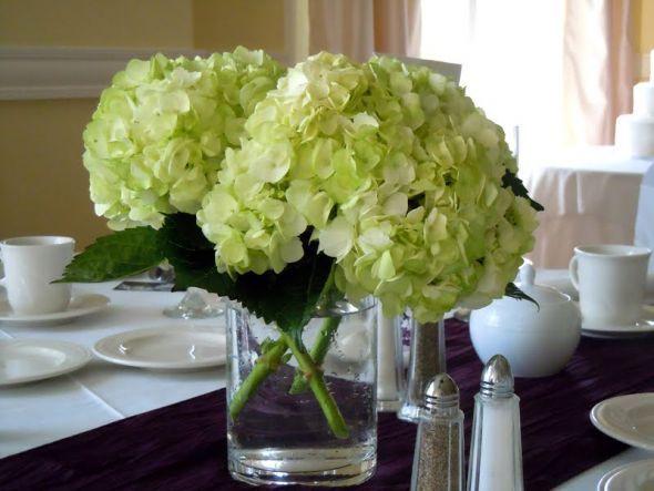 wedding-reception-green-hydrangea-centerpiece