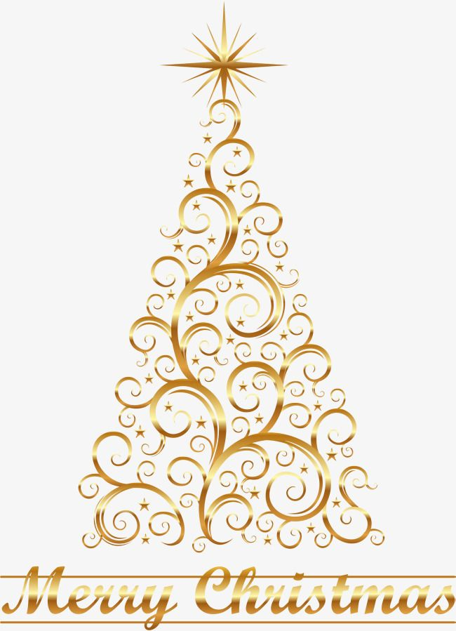 Creative Golden Christmas Tree Christmas Tree Clipart Lace Christmas Tree Christmas Tree Star