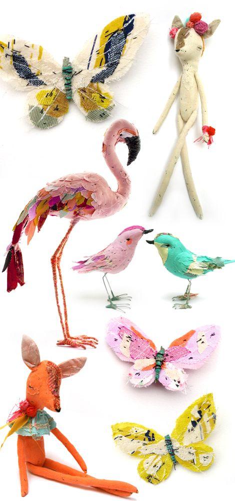 Abigail Brown's sewn patchwork animals