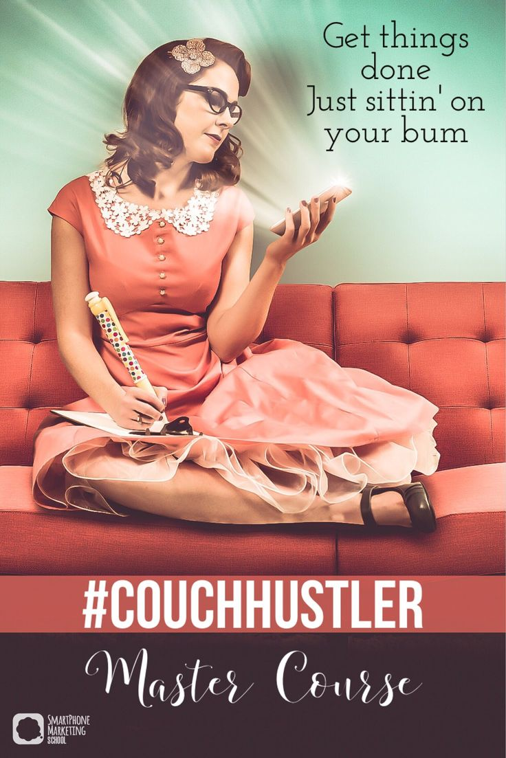 """FREE #Couchhustler Master Course - Thanks to the advancing technology of the iPhone, you can market """"all the things"""" anywhere, anytime! But there are a few vital lessons to learn before you can become a true Couch Hustler and that's exactly what this course is all about (and you can take it on your iPhone whenever you have a free moment!)."""