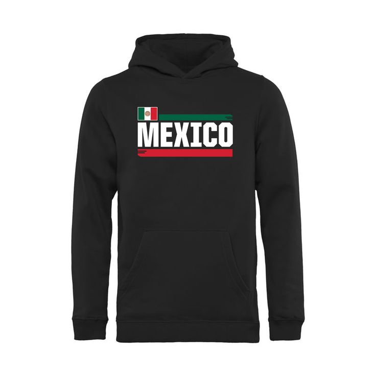 Mexico Soccer Fanatics Branded Youth Devoted Pullover Hoodie - Black