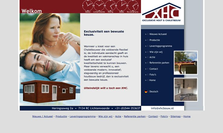 Website voor XHC bouw exclusieve chaletbouwer.  http://www.xhcbouw.nl