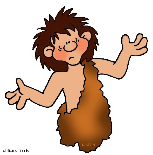 Free Early Human Clip Art by Phillip Martin, Question