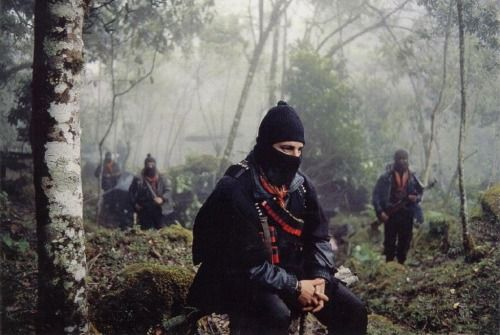 "yellowswans: ""The trenches of Zapatistas belong to everybody who wants democracy, justice and liberty."" - Subcomandante Marcos"