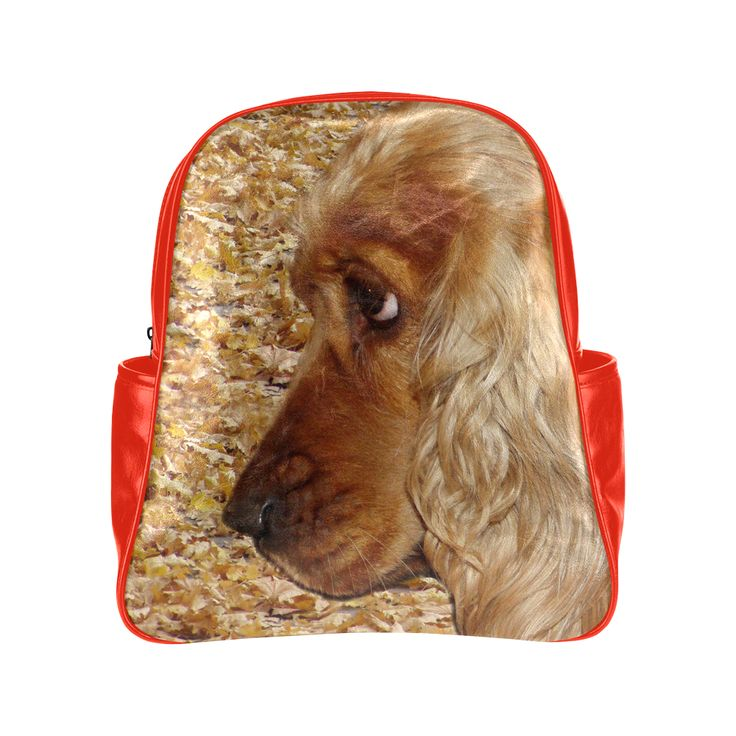 Dog Cocker Spaniel Multi-Pockets Backpack (Model 1636)