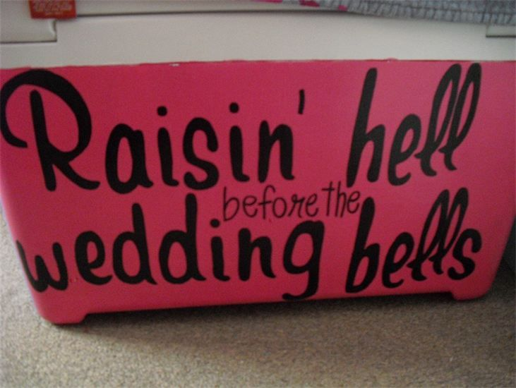 Saying for the front or back of the  bachelorette party tshirts? Love it!