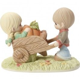"""Thanksgiving Gifts, """"I Picked The Best One"""", Bisque Porcelain Figurine, #179015 - Precious Moments"""