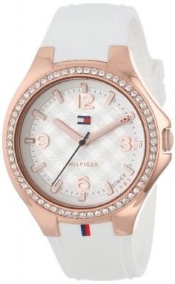 Relógio Tommy Hilfiger Women's 1781374 Sport Luxury Rose Gold Swarovski Crystal Set Bezel Watch #relogio #tommy