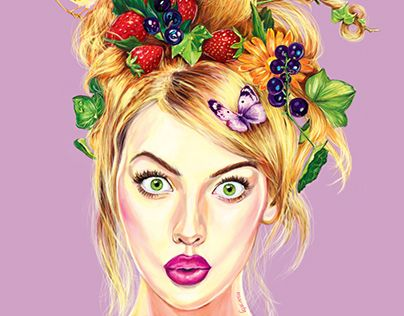 """Check out new work on my @Behance portfolio: """"Summer girl"""" http://on.be.net/1NLbaAd"""