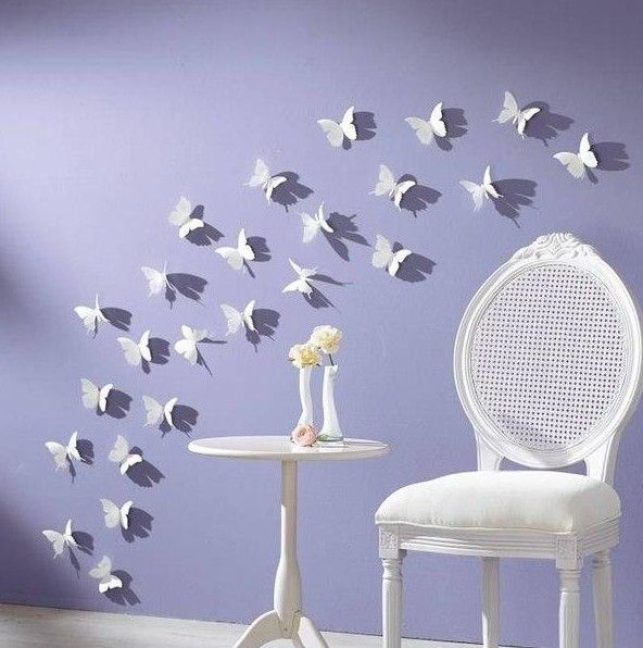 Papercut Butterflies can be oh so beautiful when used as Wall Decor. Photo from Fab DIY. Guides to Papercutting found in this collection >>> http://www.paperistas.com/paper-cutting/