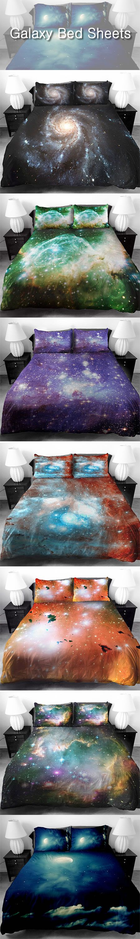Totally Eye-Catching Galaxy Bed Sheets.