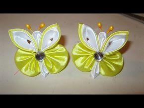 En este vídeo les enseño hacer paso a paso una linda flor kanzashi de 3 capas con 36 pétalos en cintas para el cabello Materiales: 36 rectángulos de cinta de...