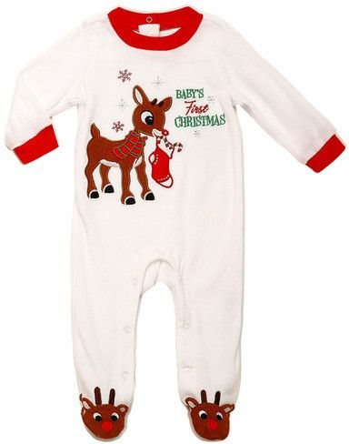 9ed6c43e86 Rudolph the Red-Nosed Reindeer Velour Baby s First Christmas Rudolph Footie  (Baby Boys)  baby  babygirl  babyboy  babysfirstchristmas  babysfirst  first    ...