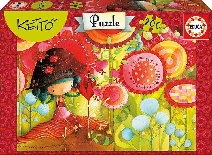 Dětské puzzle EDUCA 200 dílků - Ketto: Jungle of flowers