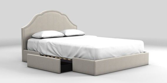 Buy Florence King bed with 2 storage drawers Sumptuous Velour Stone from the Next UK online shop