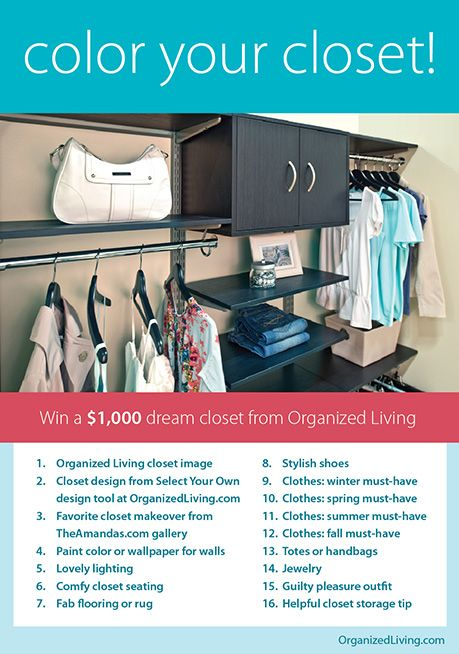 Home Organization   Color Your Closet Giveaway From Organized Living  Organized Living Closet Image.