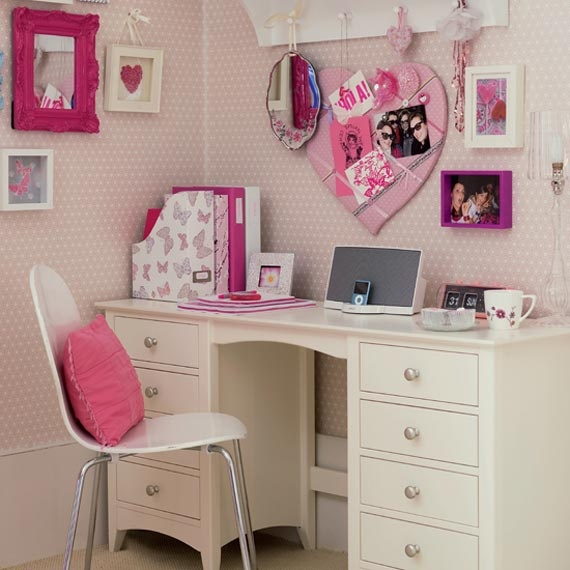 25 Kids Study Room Designs Decorating Ideas: Cute Study Desk For Kids Girls