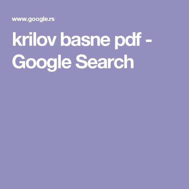 krilov basne pdf - Google Search