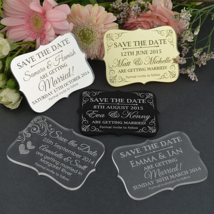 cruise wedding save the date announcement%0A Engraved Acrylic Wedding  u    Save the Date u     Cards