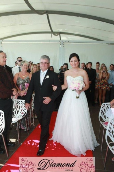 Walking down the Aisle on our St Kilda Terrace...
