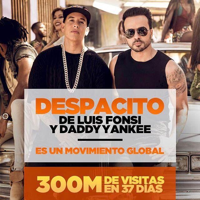 """14.7 mil Me gusta, 178 comentarios - Luis Fonsi (@luisfonsi) en Instagram: """"#Despacito es un Movimiento Global gracias a su apoyo! Thank you for the love @daddyyankee…"""""""