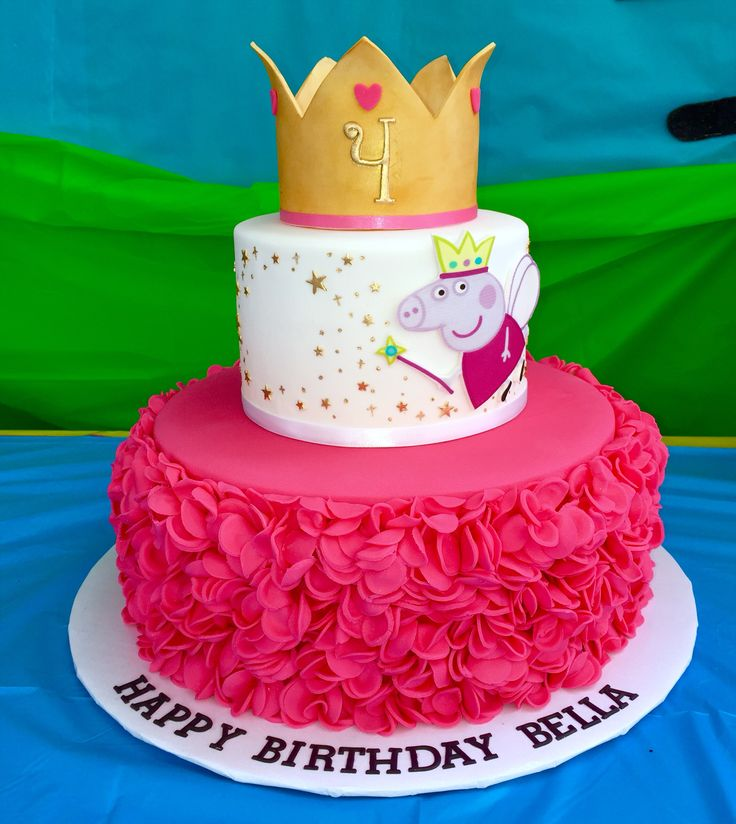 370 best Peppa Pig Cakes images on Pinterest Birthdays Peppa pig