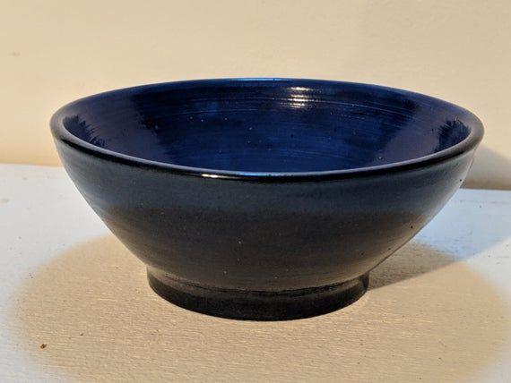 Black And Blue Speckled Ceramic Bowl Low Fire Ceramic Etsy In 2020 Ceramic Bowls Ice Cream Dishes Ceramics