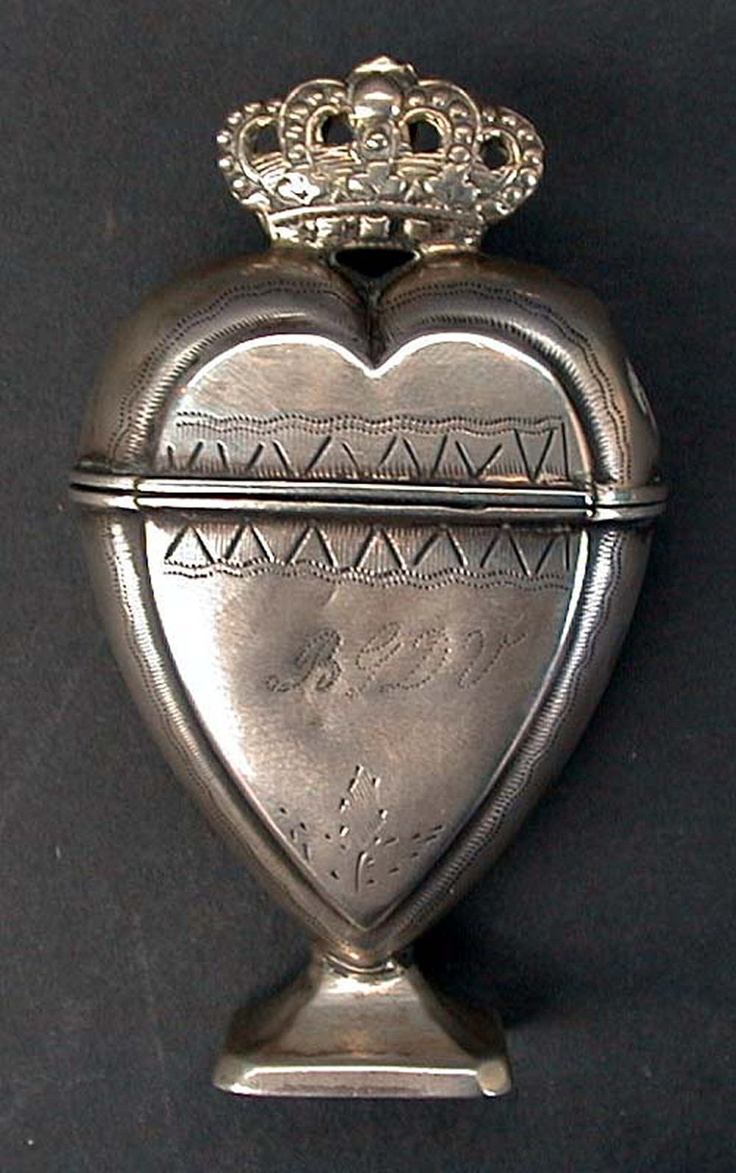 Danish heart-shaped spice box, 18th century a little something more enduring reaches out from their time to ours
