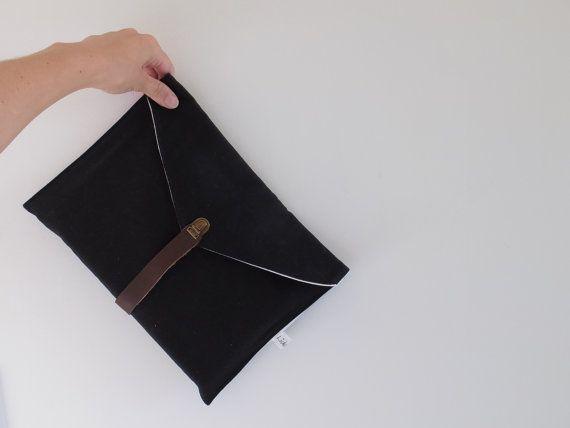 Men clutch / Men organizer / Book bag / Wallet iphone bag / Cool men gift / Fabric envelope / Bridesman gift