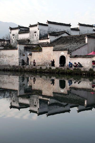 Anhui: Hongcun ancient village, China.