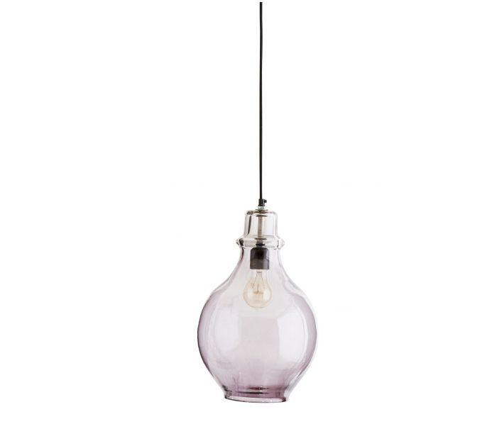 Hanglamp 'smoke' glas Madam Stoltz