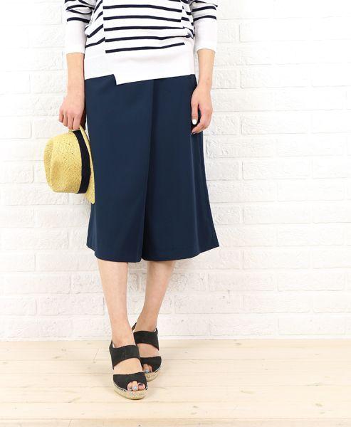 涼し気なジョーゼットはマリンスタイルにあう!ドレープ性のある記事でスカートに見えるジョーゼットスカーチョ。女性らしさを演出しつつアクティブなシーンにも最適なスカーチョファッションスタイルコーデを集めました♡