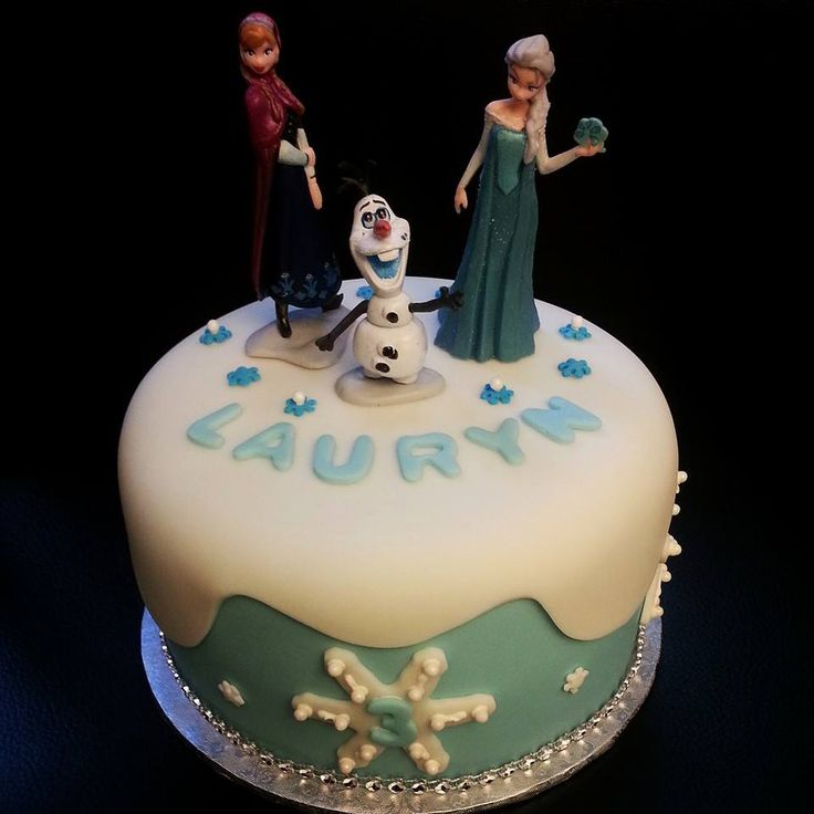 #Frozen inspired #birthday #cake in Red Velvet #anna #olaf #elsa #letitgo
