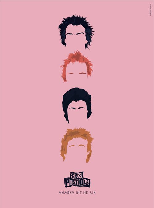 Sex Pistols gran #poster <3 Genios del punk y de demostrar que se puede ser uno