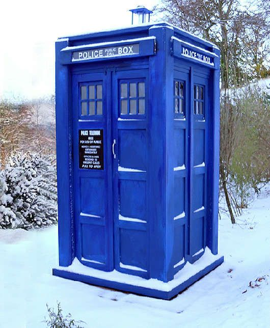 Full-Size, Officially Licensed TARDIS. SHUT THE FRONT DOOR!!! Pick which version you want?!  -I'd love one of these in the garden.