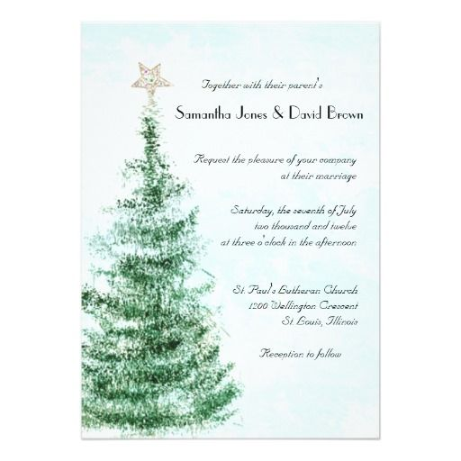 277 best christmas wedding invitations images on pinterest christmas tree wedding invitation stopboris Gallery