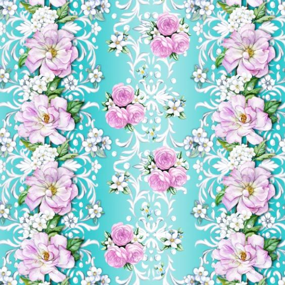 Spring seamless composition with roses by Maria Rytova
