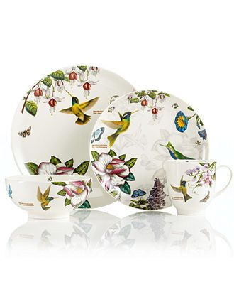 Portmeirion Dinnerware Botanic Hummingbird Collection Casual Dinnerware Dining