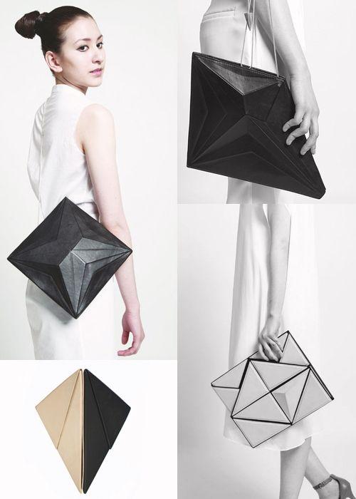 Faceted Bags - geometric fashion, innovative accessories // Tiravan